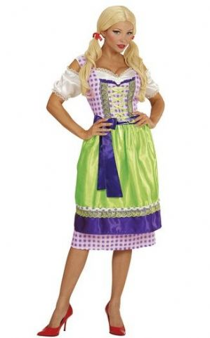 Bavarian Beer Girl Dirndl Plus Size Costume (00124)